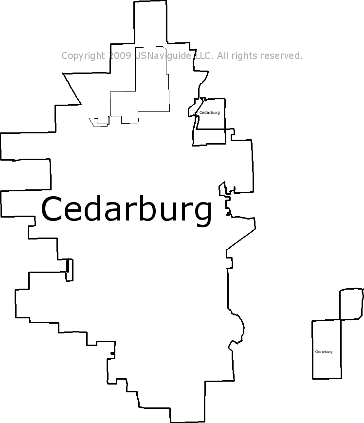 Cedarburg Wisconsin Map.Cedarburg Wisconsin Zip Code Boundary Map Wi