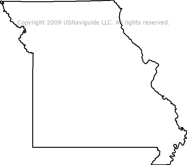 Missouri Zip Code Boundary Map Mo