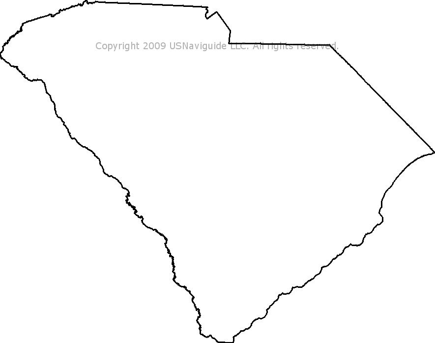 South Carolina Zip Code Boundary Map Sc