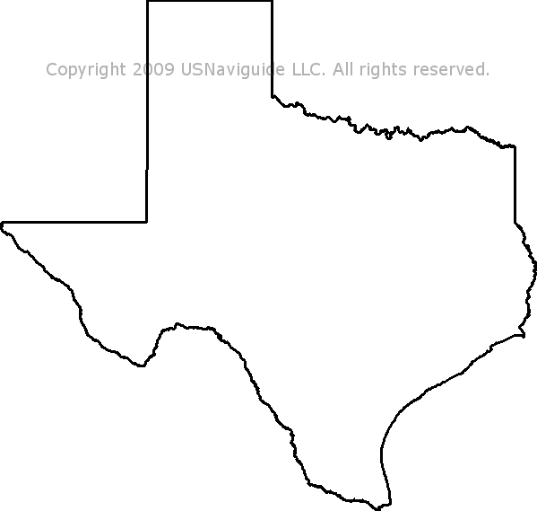 Texas Zip Code Boundary Map Tx